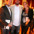 Sponsor Chris Giannoulias, wife Patricia, and brother Stavros